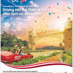 Free entry to Sentosa in celebration of SG50