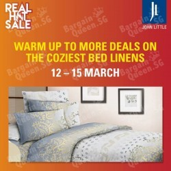 Additional 30% off selected bedlinen for members @ John Little