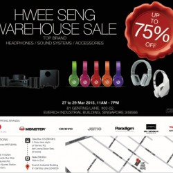 Audio Warehouse Sale up to 75% off @ Hwee Seng Electronics