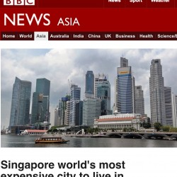 Singapore world's most expensive city to live in