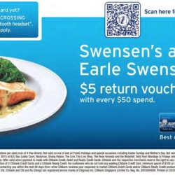 S$5 Return Voucher @ Swensen's and Earle Swensen's