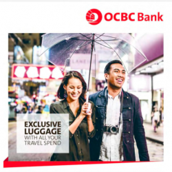 Exclusive luggage with all your travel spend @ OCBC