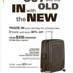 Trade-in deals @ Samsonite