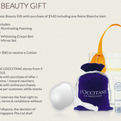 Beauty Gifts with purchase @ L'Occitane