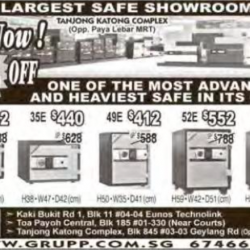 SG largest safe showroom promotion up to 30% off @ GRUPP