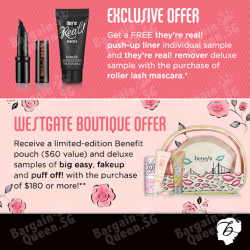 Exclusive gift with purchase of Benefit items @ Sephora