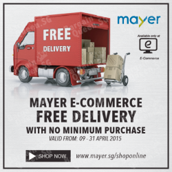 Free delivery on all orders @ Mayer