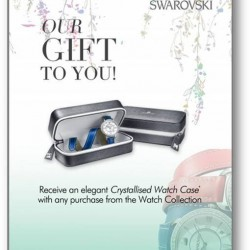Crystallised Watch Case with any purchase from the Watch Collection @ Swarovski Vivocity