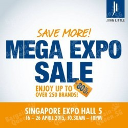 Up to 80% Off Mega Expo Sale @ John Little