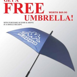 Free umbrella with purchase @ Kappa