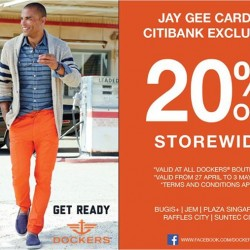 20% off for Jay Gee and Citibank Cardmembers @ Dockers