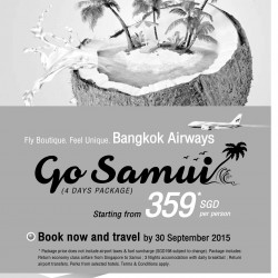 Go Samui 4-day package from $359 with Bangkok Airways