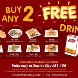 Buy 2 Get 1 free promotion @ Shihlin Taiwan Street Snacks Suntec City