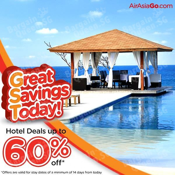 Up to 60% off on Hotel Only Booking @ AirAsiaGo
