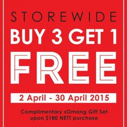 Special April Treats buy 3 get 1 free @ Somang