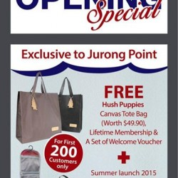 Jurong Point Opening Special @ Hush Puppies