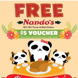 Free $5 Nando's voucher when you spend $30 @ Artbox