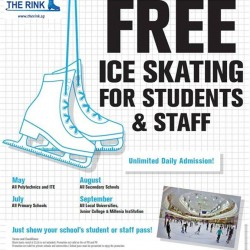 FREE Ice Skating for students and staffs @ The Rink