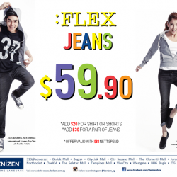 Add $20 for Shirt or Shorts or add $30 for Jeans @ Denizen