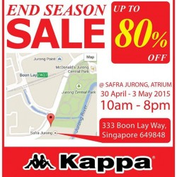 End season sale up to 80% off @ Kappa