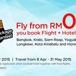 Fly from RM0* when you book Flight + Hotel Packages @ AirAsiaGo