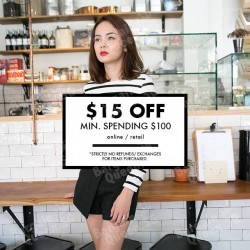 $15 off when you spend $100 @ MDSCollection Store & Online