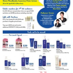 KOSÉ beauty fair with special buys @ Metro Woodlands