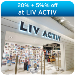 20% off storewide + additional 5% off for all Citibank Cards @ LIV ACTIV