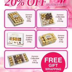 20% off selected Ferrero Rocher @ The Cocoa Trees