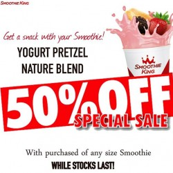 50% off Yogurt Pretzel with purchase of smoothie @ Smoothie King