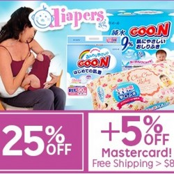 25% + 5% off at DIAPERS with Mastercard @ Rakuten.com.sg
