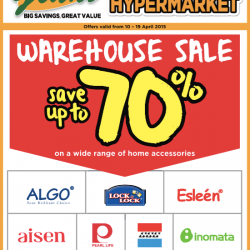 Up to 70% Off Warehouse Sale @ Giant