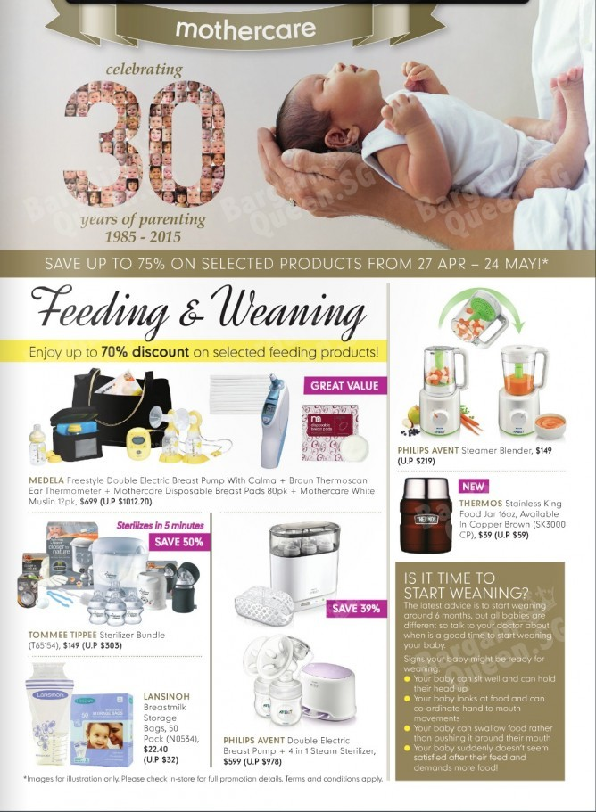 7845e98919ed8 Mothercare Celebrates 30 years of parenting this year! Enjoy up to 75%  discount on selected products 27 Apr - 24 May! Pick up a copy of our flyer  in-store ...