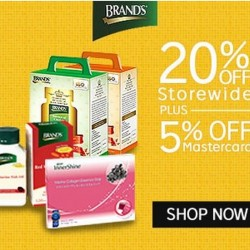 20% + 5% off at BRAND'S® with Mastercard @ Rakuten.com.sg