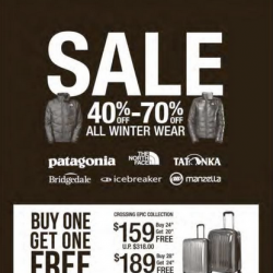 40%-70% Off All Winter Wear @ The Planet Traveller