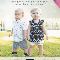 Get $20 Off When You Spend $100 @ Kidstyle