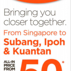 All-in price from Singapore from S$50 @ FireFly