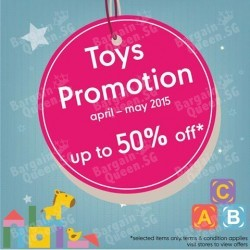 Up to 50% Off Toys Promotion @ Mothercare