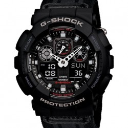 (Flash Deal) Casio G-Shock Classic Series Military Cloth Strap Extra Large Watch GA100MC-1A @ Lazada