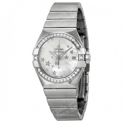 Omega Constellation Automatic Diamond Mother of Pearl Dial Ladies Watch @ JOMASHOP