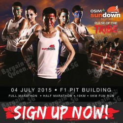 Early Bird promo code for Sundown Marathon @ OSIM