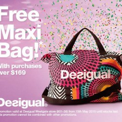 free Maxi Bag with $169 spend @ Desigual