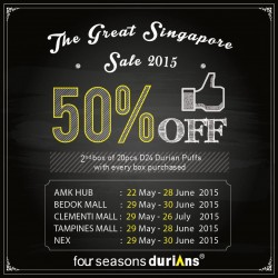 50% Off 2nd Box @ Four Seasons Durians