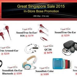 Great Singapore Sale: in-store Bose promotion @ Stereo Electronics