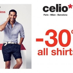 30% Off On All Shirts @ celio*