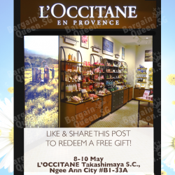 Like & Share the post and redeem your free gift @ L'OCCITANE