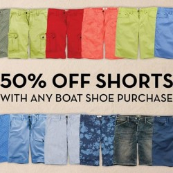 50% Off Shorts with Any Boat Shoe Purchase @ Timberland