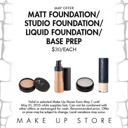 Base Promotion for Month of May @ Make up store