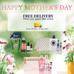 Happy Mother's day Free Shipping @ L'OCCITANE