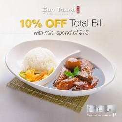 10% OFF Total Bill with NTUC card @ Fun Toast